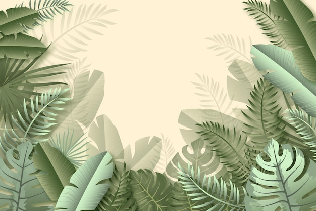 Sfondo murale tropicale
