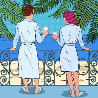 Paradiso tropicale disegnato a mano