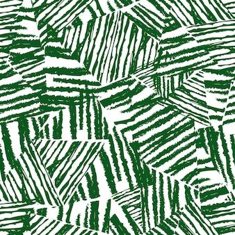 Reticolo tropicale, sfondo floreale vettoriale. modello senza cuciture delle foglie di palma, foglie verdi di abstact. texture ruvida caotica su sfondo bianco.