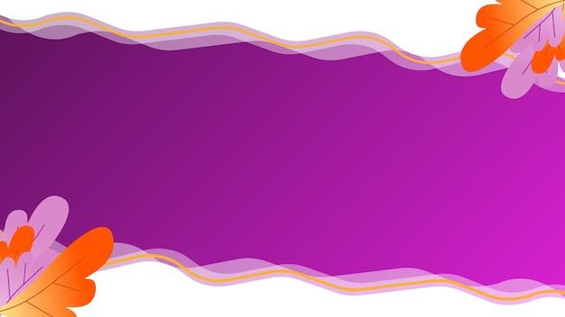 Fondo viola tropicale con onda bianca