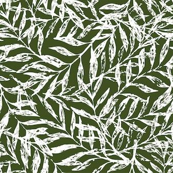 Reticolo floreale senza giunte tropicale. illustrazione vettoriale
