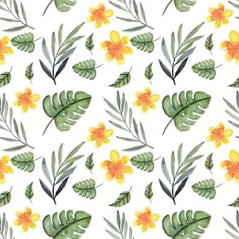 Reticolo senza giunte tropicale con estate floreale