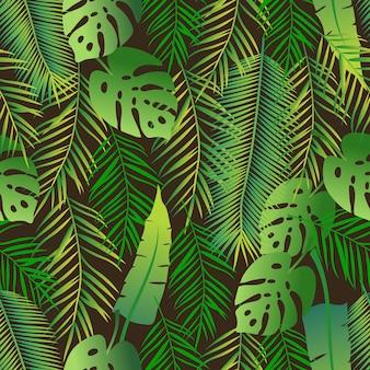 Modello senza cuciture tropicale
