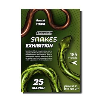 La mostra tropicale dei serpenti fa pubblicità all'insegna