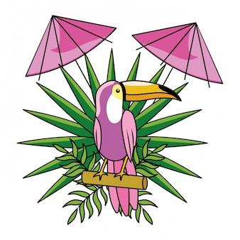 Cartone animato estivo tropicale
