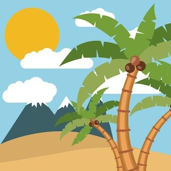 Paesaggio estivo tropicale