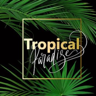 Stampa estiva tropicale con foglie per il design di t-shirt