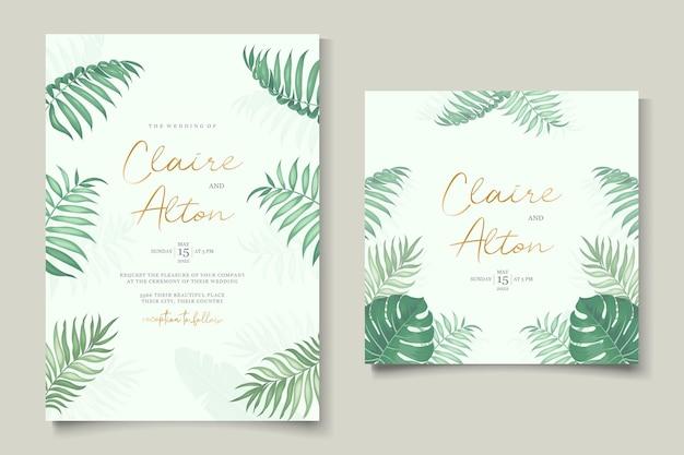 Modello di invito a nozze a tema tropicale