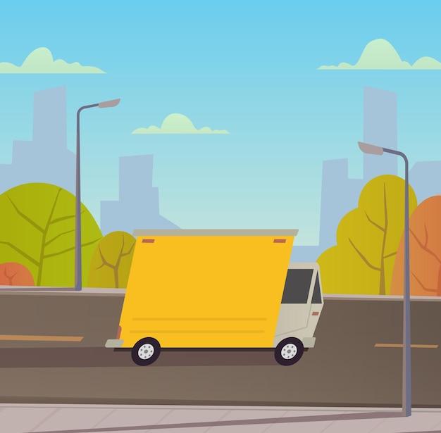 Servizi di consegna camion. illustrazione vettoriale