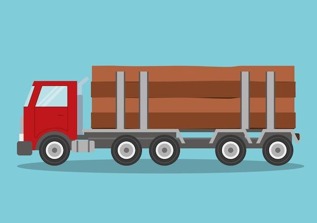 Progettazione di camion. icona di trasporto. illustrazione piatta