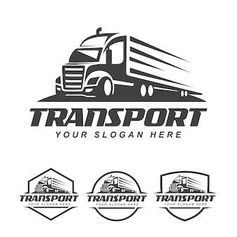 Set logo camion Vettore Premium