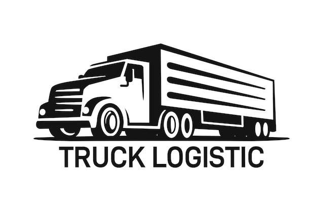 Modello di logo del camion per la consegna o la logistica.