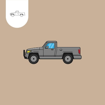 Camion pick up vettore camion pick up cartoon