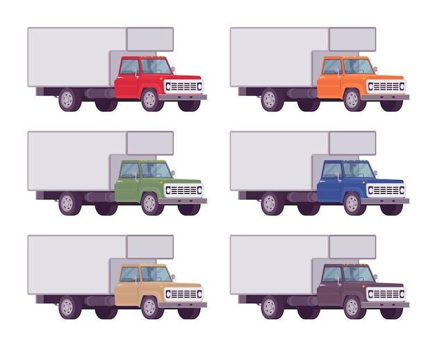 Set di camion in colori vivaci