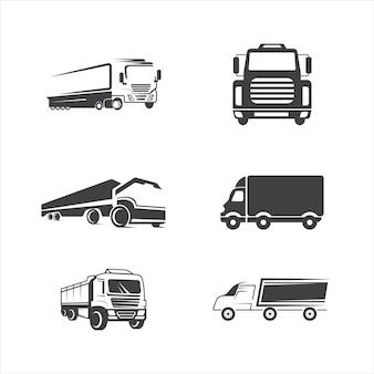 Illustrazione del disegno dell'icona di vettore del camion template