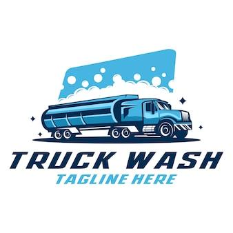 Modello di logo di lavaggio camion
