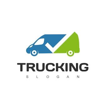 Modello di progettazione del logo per autotrasporti, spedizioni e logistica