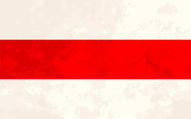 Proporzioni reali nuova bandiera della bielorussia con texture grunge