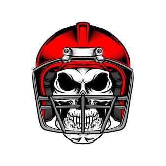 Tshirt design illustrazione football americano