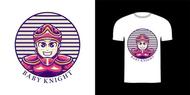 Tshirt design illustrazione cavaliere