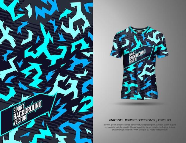 Maglietta dal design moderno astratto mimetico per i giochi di calcio da ciclismo in maglia da corsa