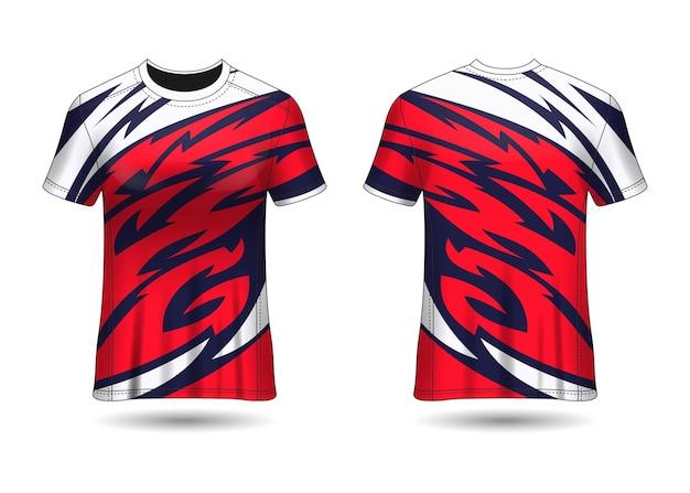 Tshirt sport design maglia da corsa per vista frontale e posteriore dell'uniforme del club