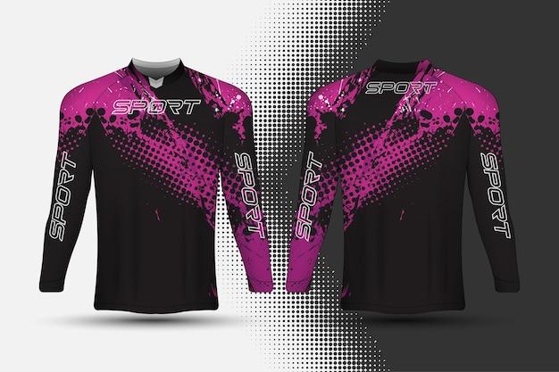 Maglietta sportiva da corsa in jersey con sfondo astratto