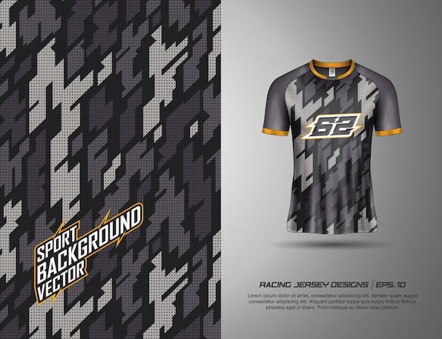 La maglietta sfoggia un moderno design mimetico per corse, jersey, ciclismo, calcio, giochi