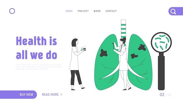 Pagina di destinazione del sito web di tubercolosi.