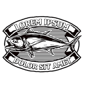 Tonno per badge logo club di pesca