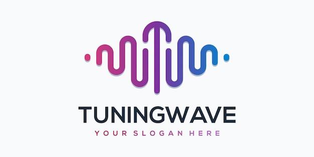 Sintonizzazione dell'elemento del lettore wave con modello di logo a impulsi