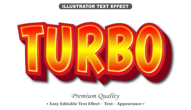Turbo 3d effetto stile testo modificabile