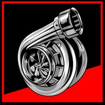Disegno dell'illustrazione turbo