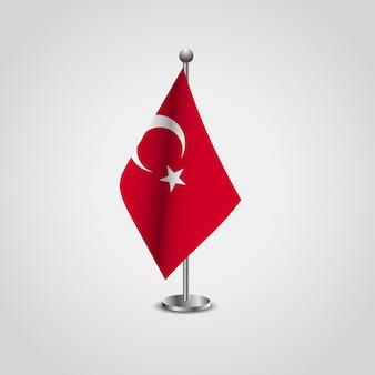Vettore di progettazione della bandiera della turchia