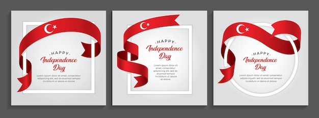Bandiera della turchia felice giorno dell'indipendenza, illustrazione