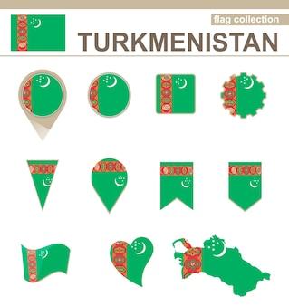Collezione di bandiere del turkmenistan, 12 versioni