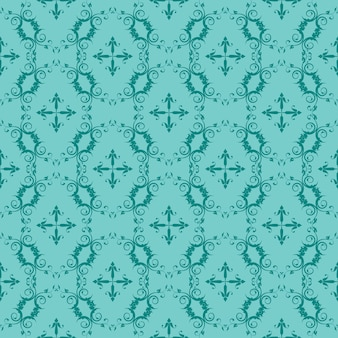 Turquoise and teal ornamental swirl background