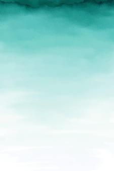 Sfondo turchese acquerello ombre, carta da acquerello verde acqua