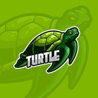 Turtle e-sport logo modello