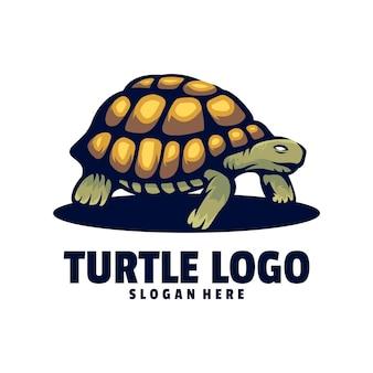 Design del logo della tartaruga Vettore Premium