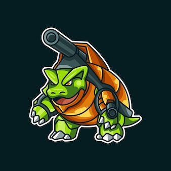 Illustrazione dell'autoadesivo del guerriero tartaruga turtle