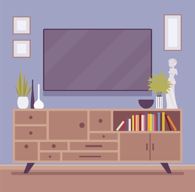 Interno della stanza del mobile tv
