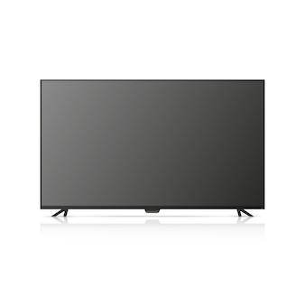 La tv è spenta illustrazione tv isolato su sfondo bianco.