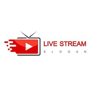 Logo tv, design in streaming veloce