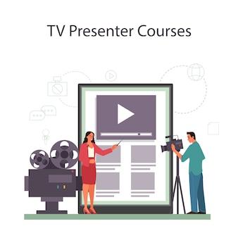 Servizio o piattaforma online di presentatore tv