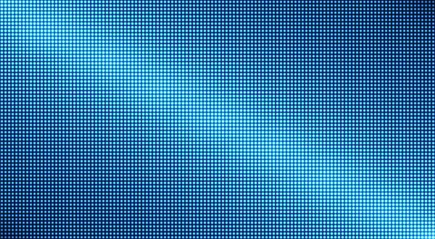 Trama televisiva. display digitale. videowall a led. schermo pixel blu. effetto diodo elettronico.