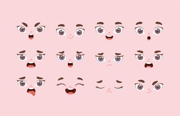 Dodici espressioni del viso