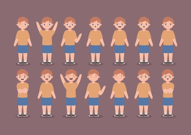 Dodici espressioni per bambini