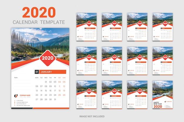 Calendario di dodici mesi