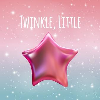 Twinkle little star sullo sfondo del cielo notturno.